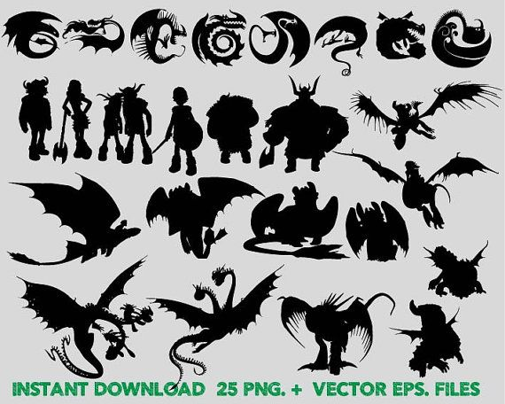 How to train your dragon Silhouettes clipart, Clip Art,T shirt ...