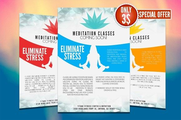 Yoga Flyer Template PSD, Word and InDesign Format | Yoga Flyer ...