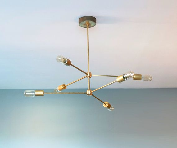 The Annunciation Chandelier 2 Tiered 3 Armed Sputnik In Raw Brass Modern Meble Lampy Pinterest