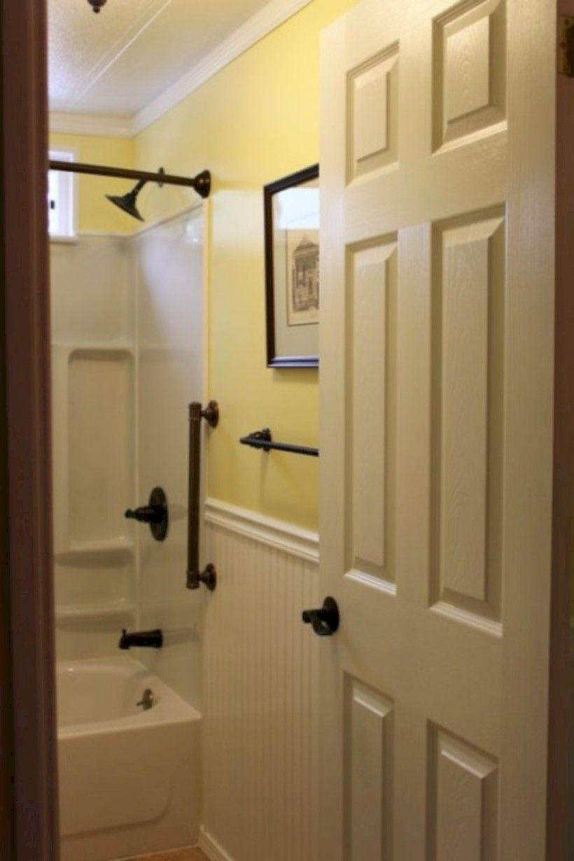 50 Yellow Tile Bathroom Paint Colors Ideas Roundecor Remodeling Mobile Homes Bathrooms Remodel Remodel Mobile Home Famous ideas mobile home bathroom