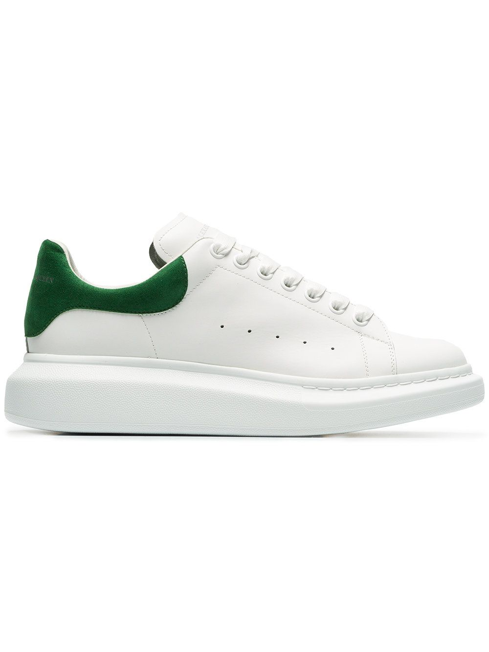 d9295b2bb11e Alexander McQueen White and green Oversized Sole leather sneakers ...