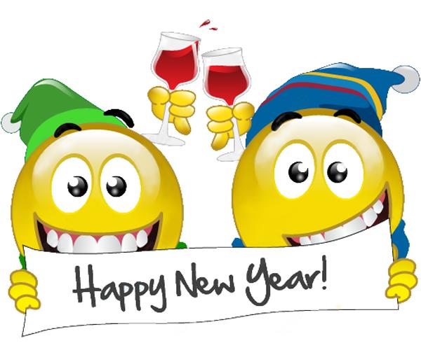 Happy New Year Smileys Smiley Noel Emoji Drole Bonne Annee