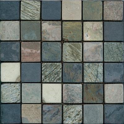 Anatolia In X In Tumbled Mixed Slate Mosaics Home Depot