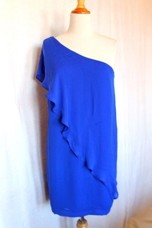 zara robe asym trique one soulder bleu lectrique taille m ebay marques sur ebay pinterest. Black Bedroom Furniture Sets. Home Design Ideas