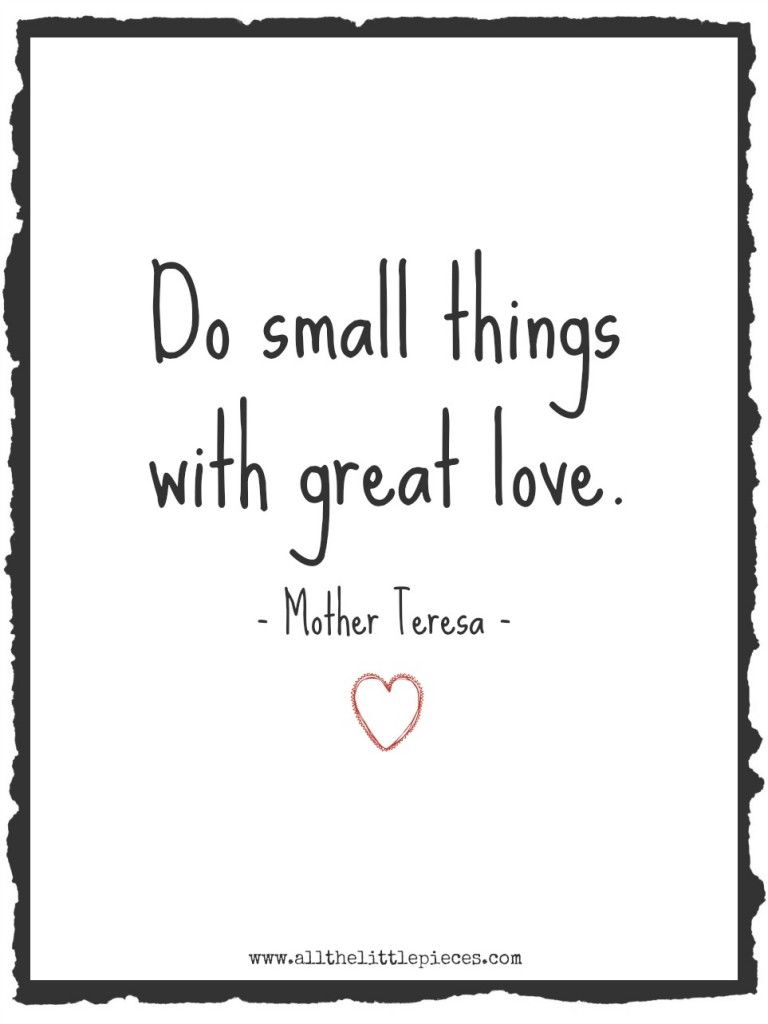 Small things. Great love. (Free printable!) - all the little pieces