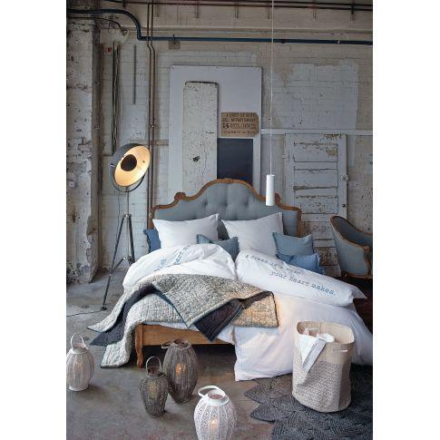 bett knopfheftung romantik look mango massiv leinenbzug betten mbel - Bett Backboard Ideen