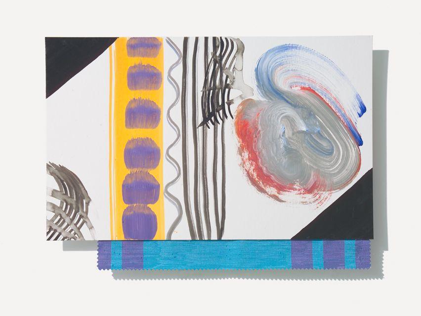 NATA, Quidditas 2007,acrilico su cartone e stoffa,cm40x50