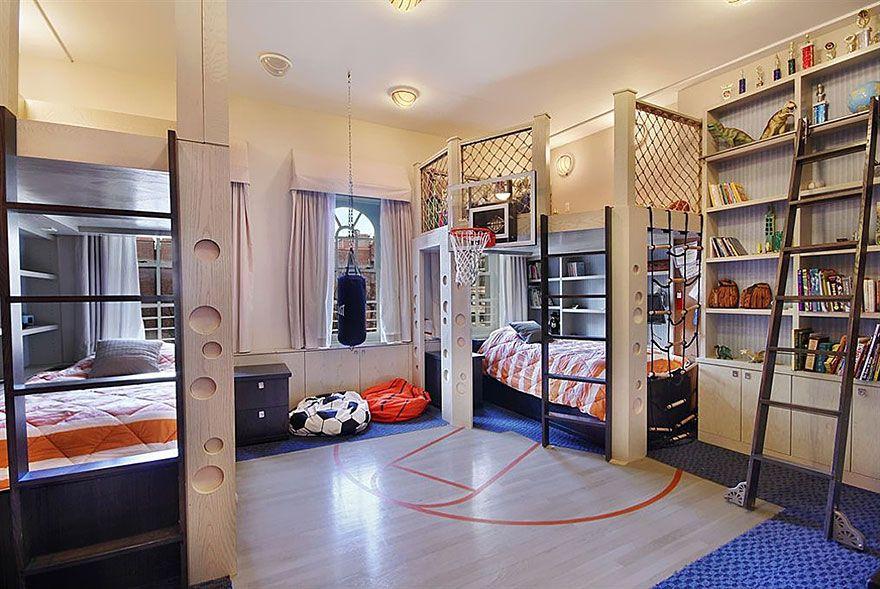 Delightful Amazing Roomu0027s Idea For Kid_Basketball Court Bedroom