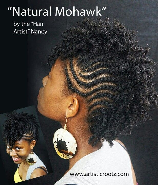 Natural Mohawk Hairstyle Natural Hair Twists Natural Hair Braids Natural Hair Mohawk