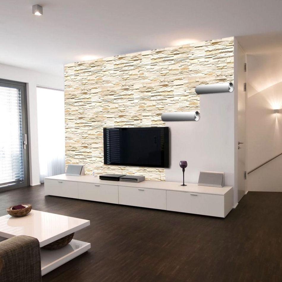 Wohnzimmer Grau Weiß · Steine · Wohnung Design · Verblender · Haushalt ·  Ehrfürchtig Wohnzimmerwand