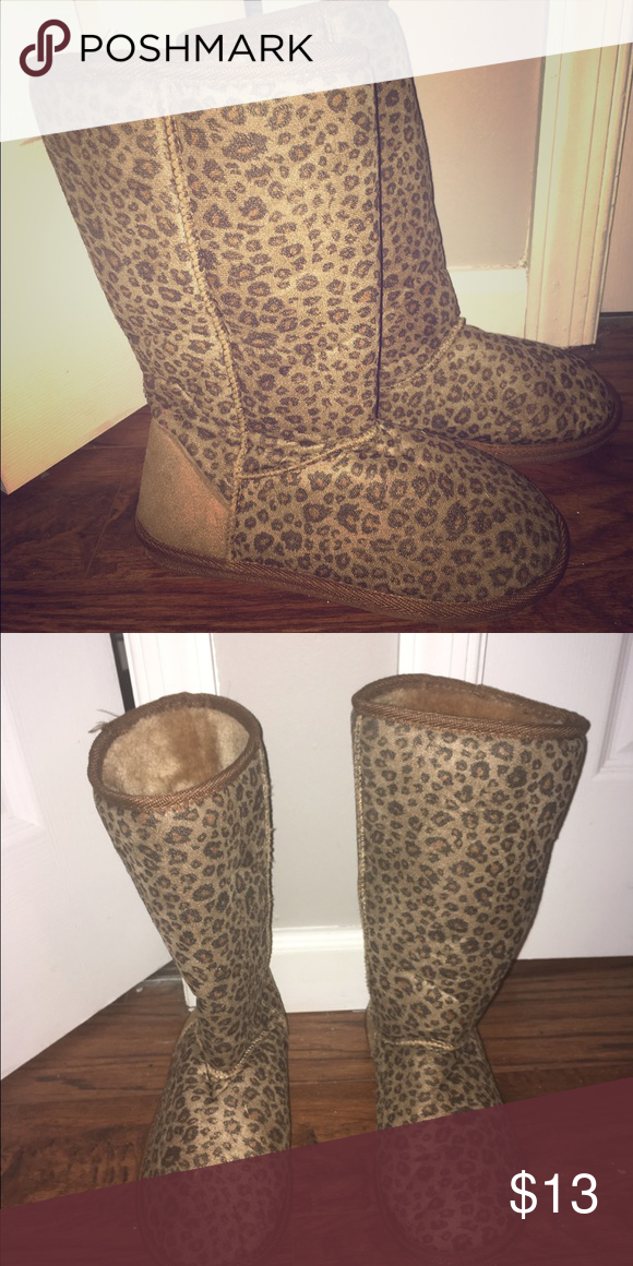 Leopard print boots Wet seal leopard