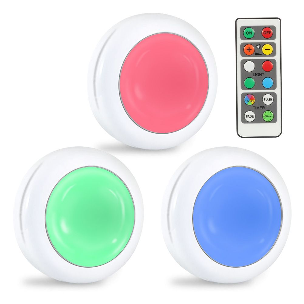 Lunsy 6pcs Wireless Color Changing Led