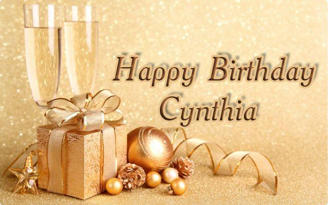 Risultati immagini per happy birthday cynthia
