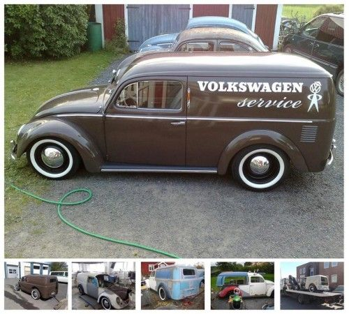 vw beetle panel truck body melded a vw van with an early vw beetle to create a vw nomad it. Black Bedroom Furniture Sets. Home Design Ideas