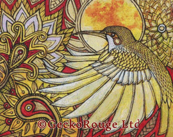 Cross stitch kit designs from original art work of Lynnette Shelly. All inspired by mythical & fantasy creatures make these awesome cross stitch
