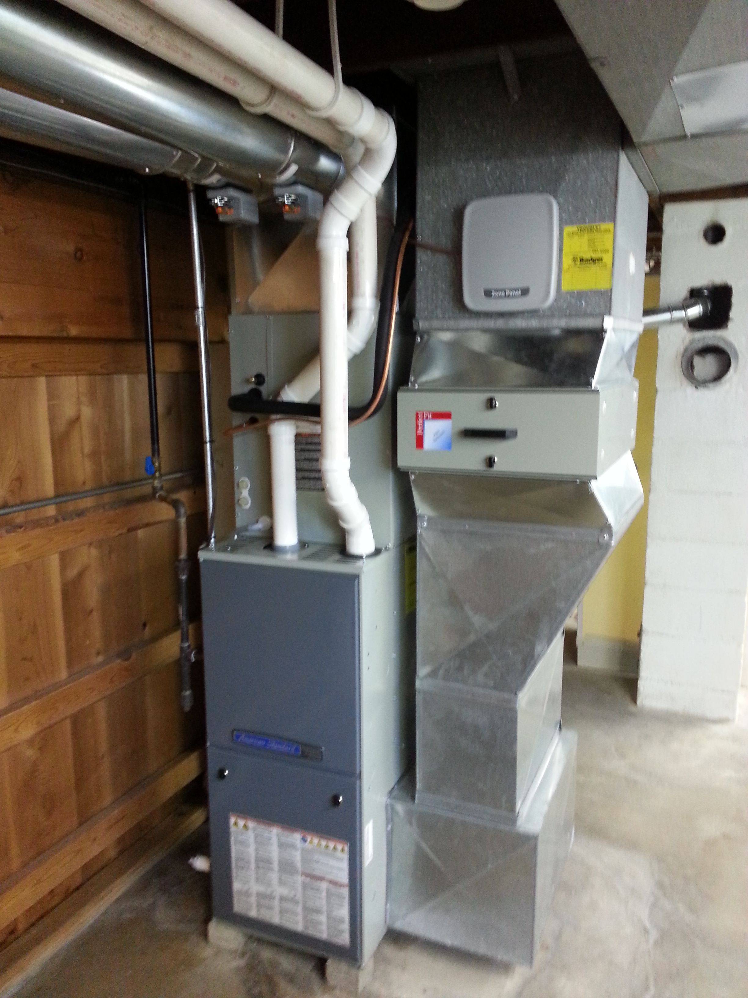 New Modulating Gas Furnace With Zoning Cooling Installation