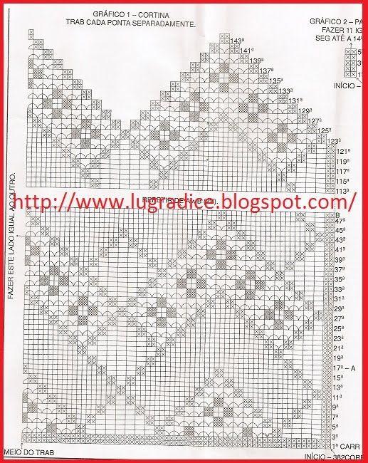 Mais sugestões de cortinas Revista Trabalhos em Barbante N 04 ...