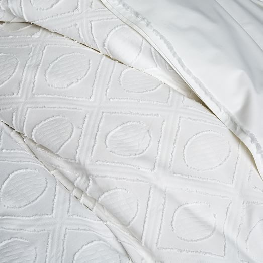Roar + Rabbit Graphic Texture Duvet Cover + Shams   White | West Elm