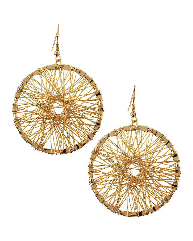 Panacea Golden Wire-Wrapped Hoop Earrings - Neiman Marcus Last Call ...