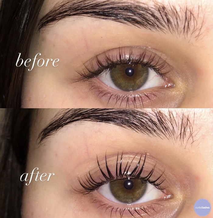 Lash Lift Before & After with Curled Lashes in 2020