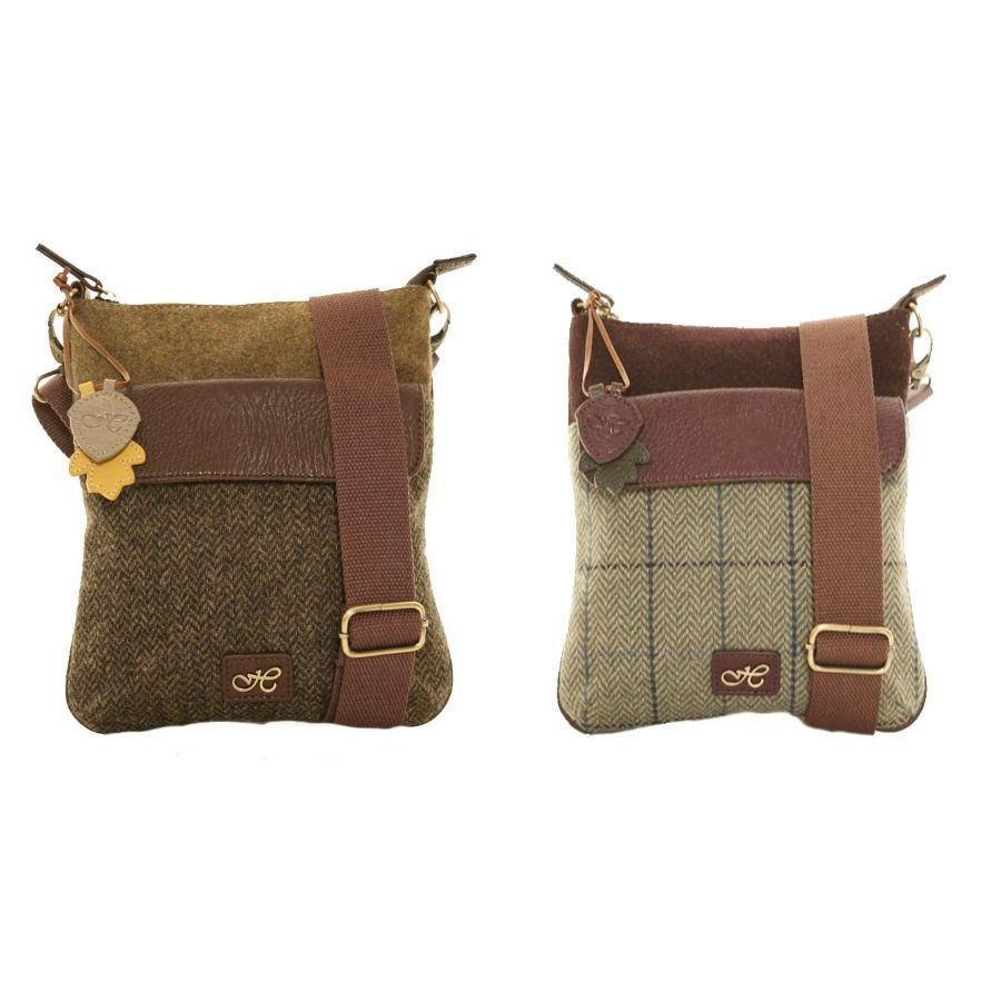 1dd1d6a568c6 HAWKINS COUNTRY CLASSIC COLLECTION TWEED CROSS BODY BAG