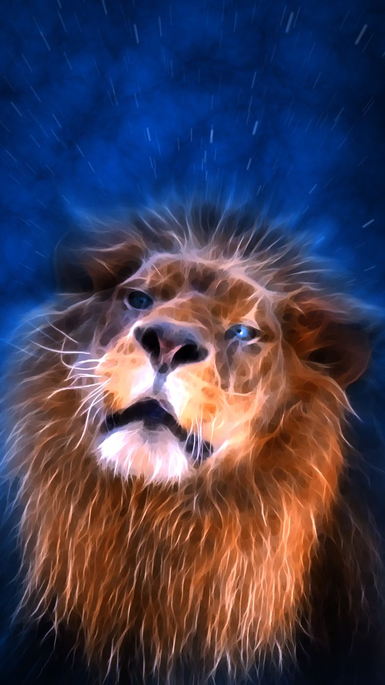Lion Abstract Lion Lion Lion Painting
