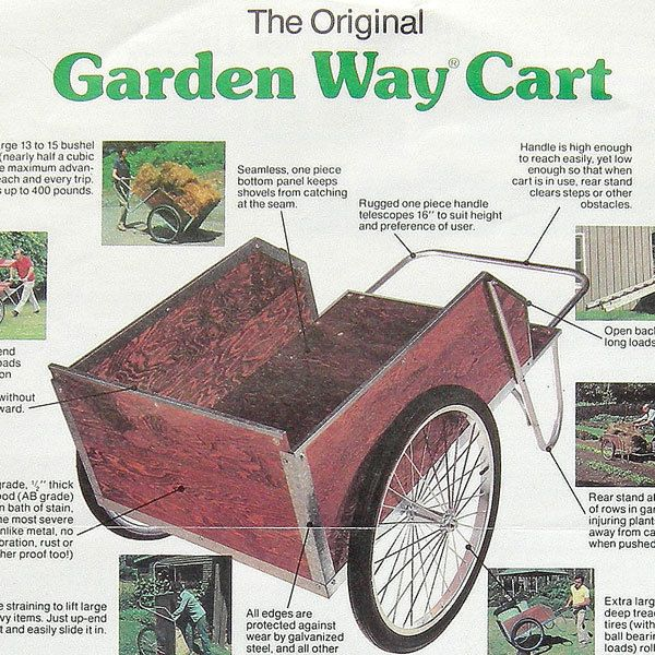Bon VTG 1980 Garden Way Wood Wheel Cart Brochure Color Print AD Wagon Lawn Home  Book