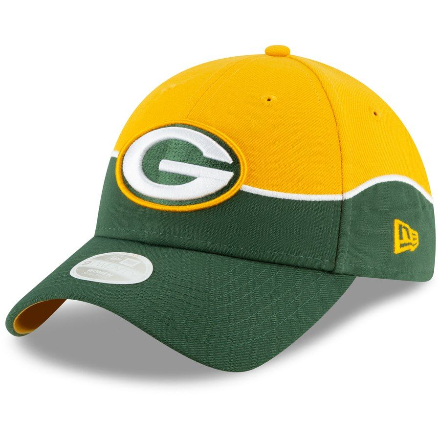 092e389c9dbff Green Bay Packers New Era Women s 2019 NFL Draft On-Stage Official 9TWENTY  Adjustable Hat – Gold