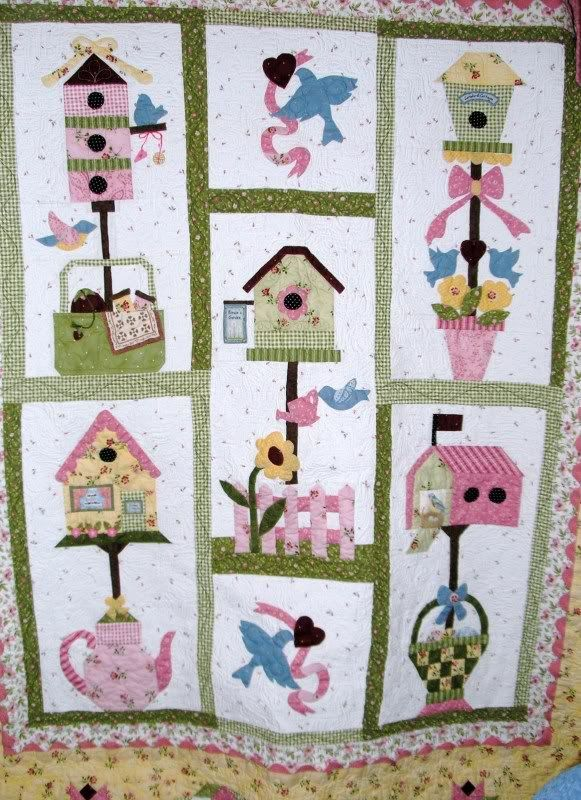 Birdhouse quilt Quilt by joobee from the quiltingboard.com ... : applique quilts patterns - Adamdwight.com