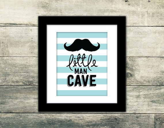 Little Man Cave Wall Art  Premium Art by GraphicDesignbyBecky, $8.00