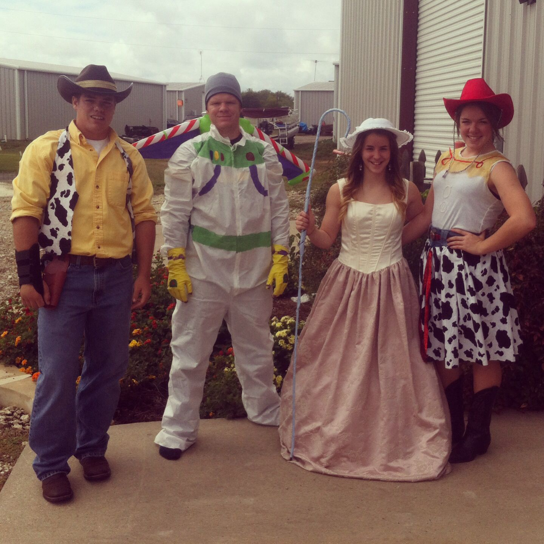 Toy Story Costumes DIY. Woody. Buzz. Little Bo Peep. Jesse.   Gift ...