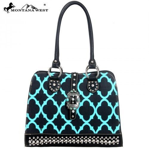 Montana West Turquoise Concho Collection Clover Handbag 2