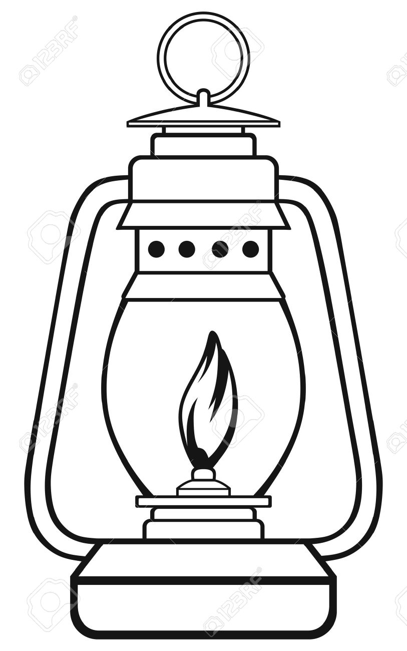 Oil Lamp Black And White Clipart in 2020 Black lamps