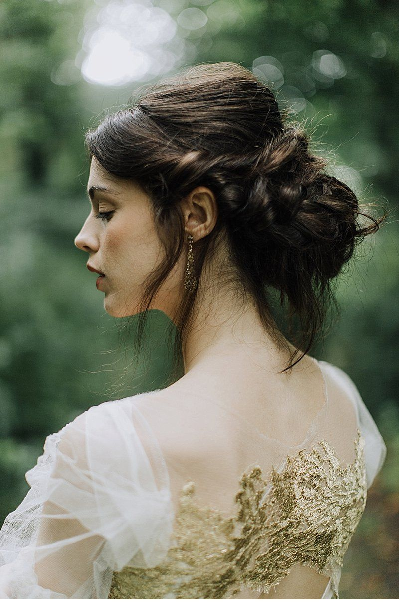 A delicate veil tries to cover the dark side of a bride ...