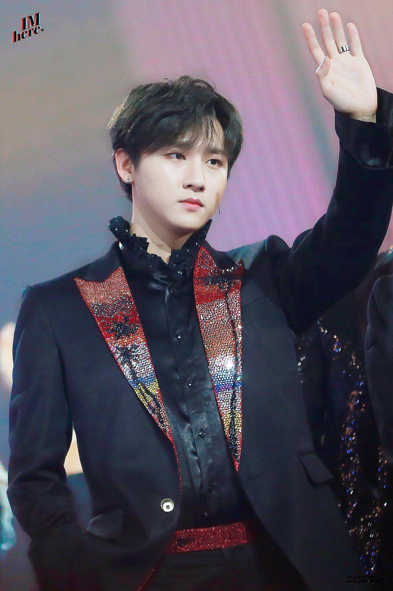 """IM HERE ϟ do not edit or crop logo. "" Monsta x, Jooheon"