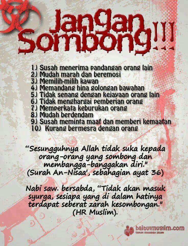Jgn Sombong Kutipan Rohani Motivasi Dan Islamic Quotes