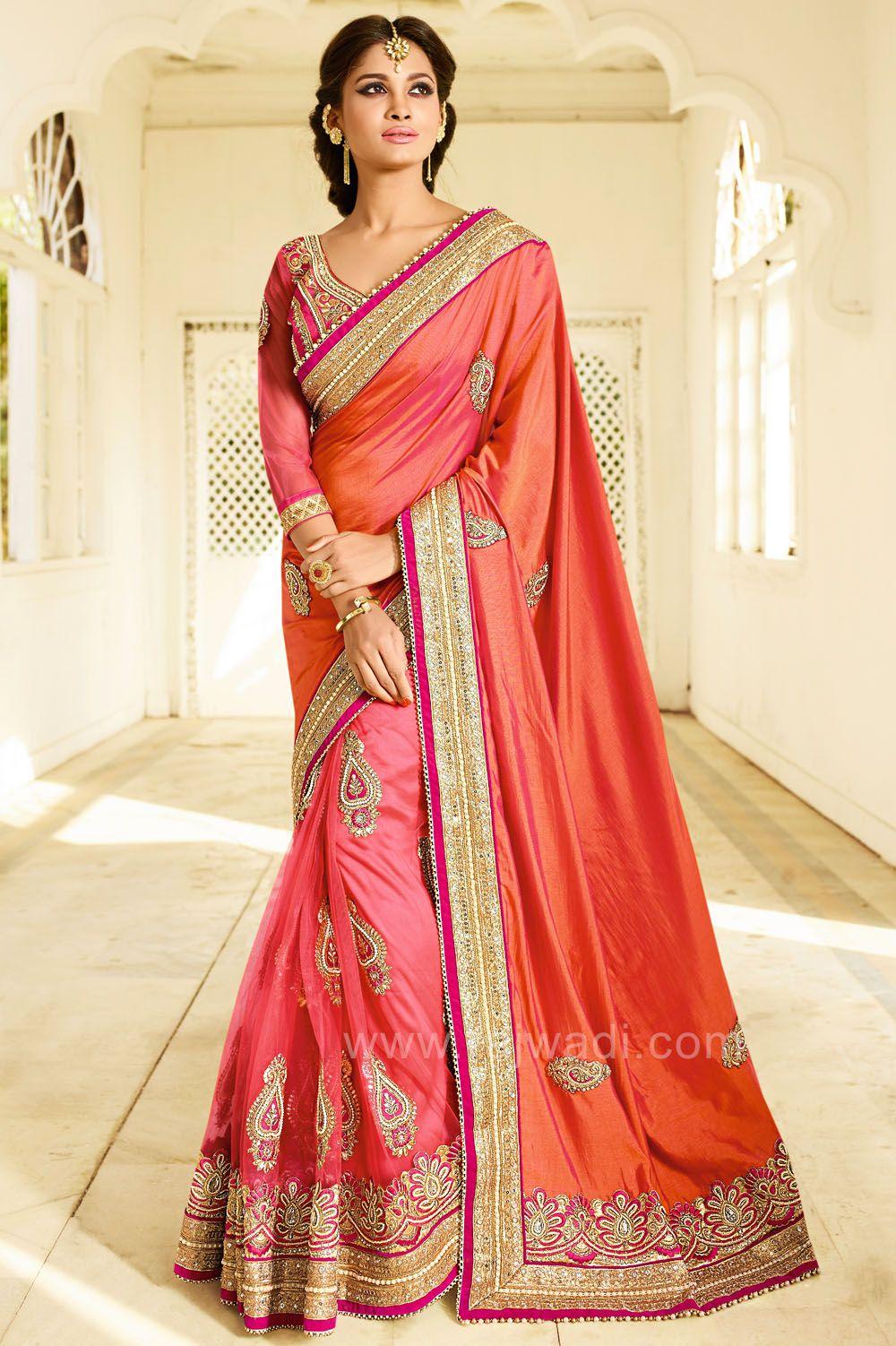 c194ed1b1b Attractive Rajwadi Saree #RoyalLook #Saree #Rani #Pink #Rust #Wedding  #Rajwadi