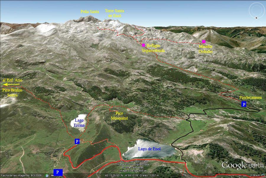 Plano De Los Lagos De Covadonga Picos De Europa Asturias Picos De Europa Lagos De Covadonga Lagos