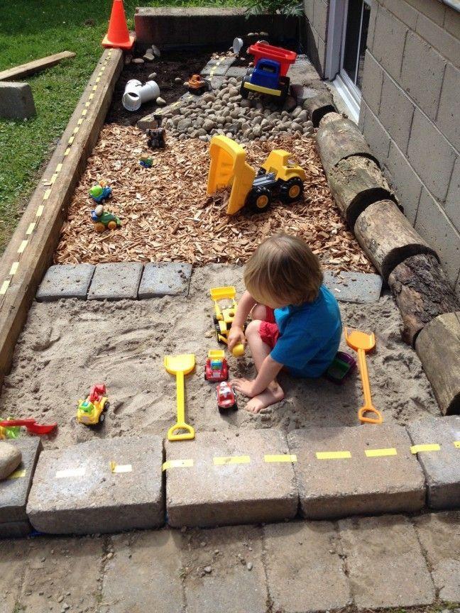So Erstellen Sie Eine Baustelle In Ihrem Garten Baustelle Diygartenkinder Erstellen Garten I Sandkiste Bauen Outdoor Spielplatz Kinder Spielplatz Garten