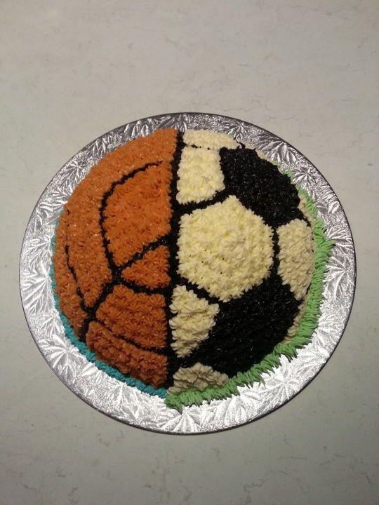 Soccer Basketball Cake Basketball Cake Soccer Cake Basketball Birthday Cake
