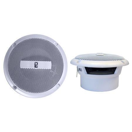 "Poly-Planar Ma3013W Ma3013W White 3"" Flush Mount Speakers (Pair)"