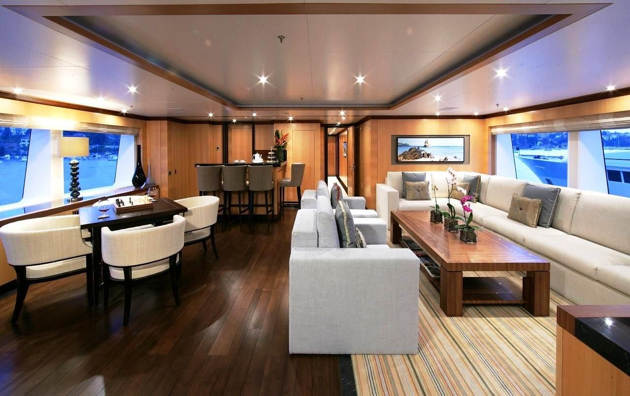 Yacht Interior Design Interiors Of Luxury Yachts  This Photo Shows Motor Yacht Amnesia