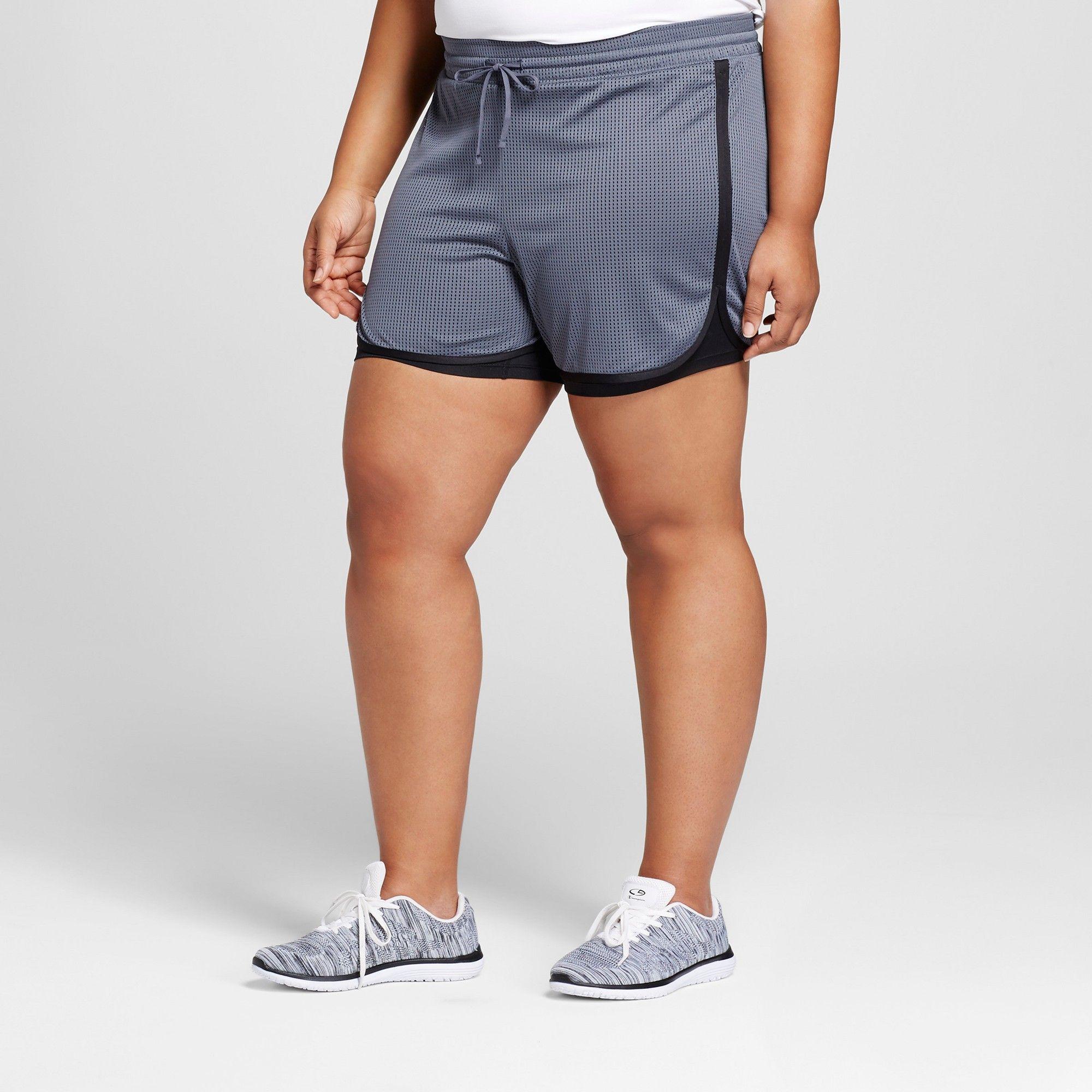 542f3ffa2027 Women s Plus-Size Sport Shorts - C9 Champion Dark Gray 1X