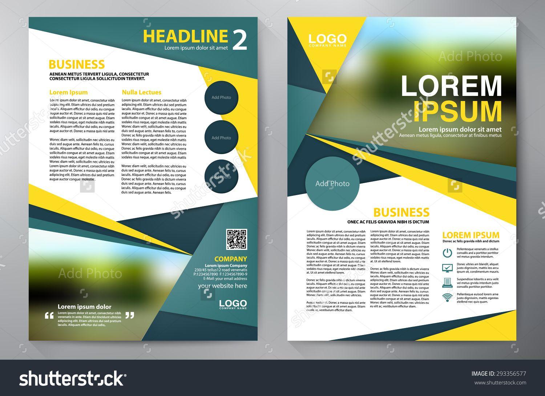 brochure design a4 template vector illustration 293356577