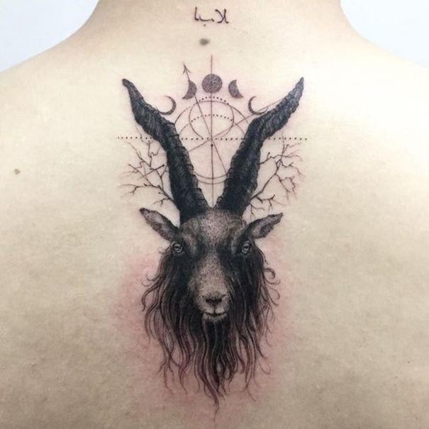 Capricorn Tattoo On Back Flawless Tattoos