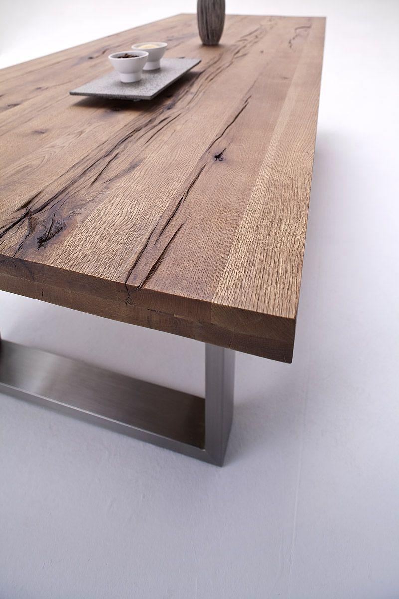 Moderne Esszimmertische esszimmertisch castel iii kufentisch massivholz material