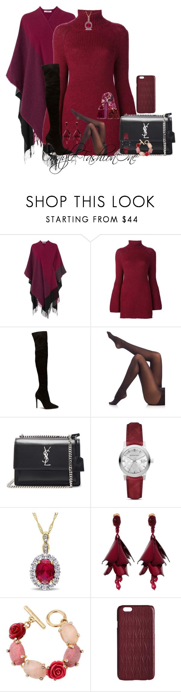 """HNUY"" by stylish1475 ❤ liked on Polyvore featuring L.K.Bennett, Rosetta Getty, SPANX, Yves Saint Laurent, Burberry, Oscar de la Renta, Dagmar and Diane Von Furstenberg"