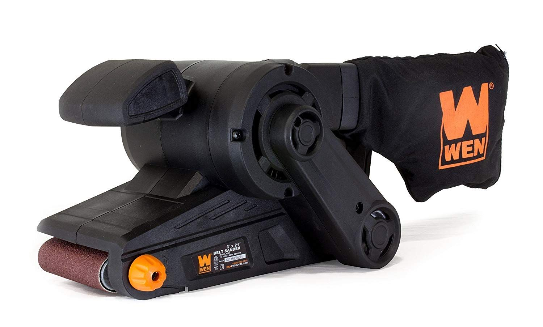 Wen 6321 7 Amp 3 In X 21 In Corded Belt Sander With Dust Bag Best Belt Sander Stripping Paint Tool Belt