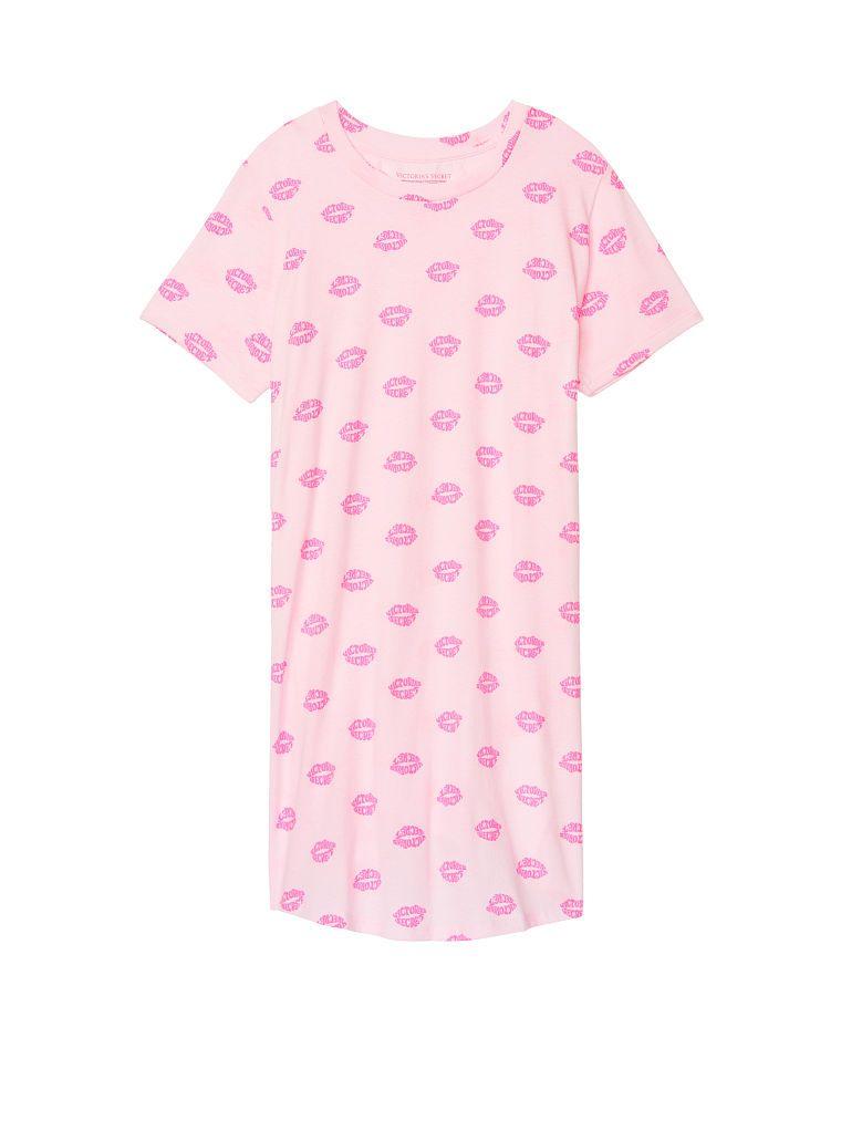 263df6fb80995 ☆ Victoria's Secret - Crewneck Sleepshirt (in Pink Ao Lips Print ...