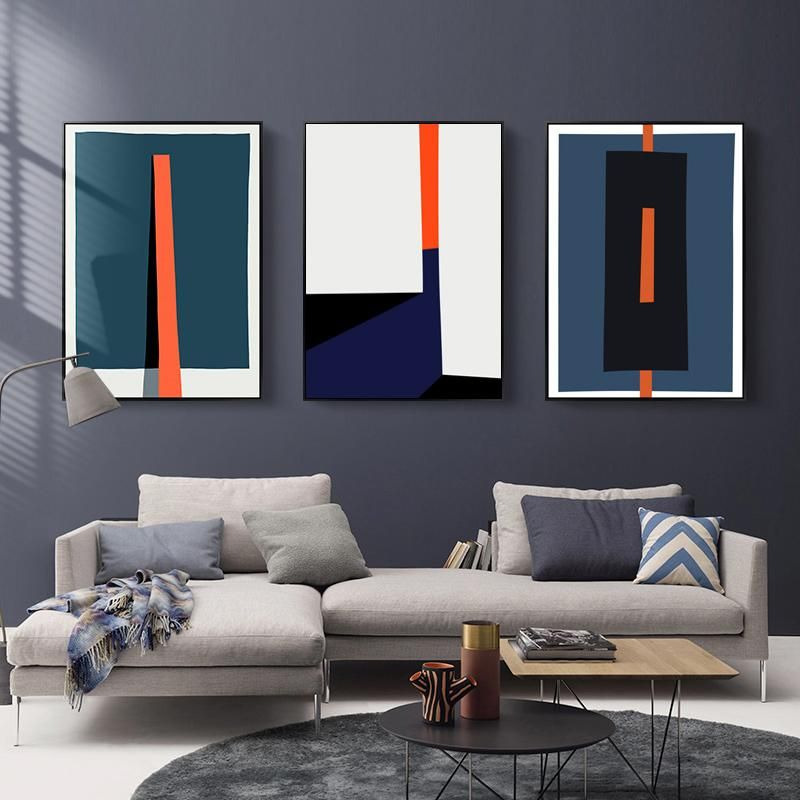Bold Geometric Abstract Design Wall Art Posters Contemporary Art Canvas Prints Paintings For Modern Office Salon Home Living Room Art Decor Contemporary Art Canvas Living Room Art Contemporary Canvas